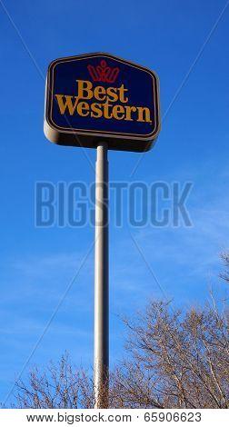 Best Western Hotel Sign