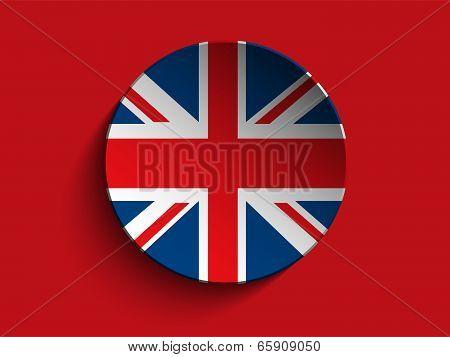 Flag Paper Circle Shadow Button