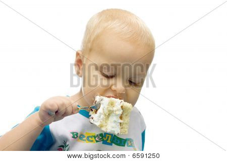 Child Eats Cake
