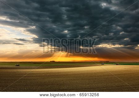 Landscape In The Plain Before The Storm