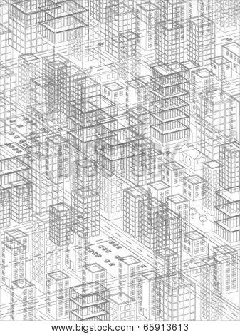 vector cityscape illustration