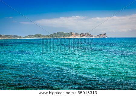 Ibiza Island,beach Ses Salines  In Sant Josep At Balearic Islands