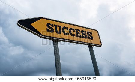 Signboard And Arrow With The Word - Success