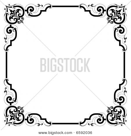 Elegant Scroll Frame