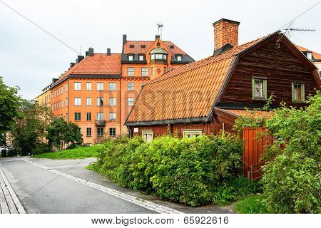 Houses At Sodermalm In Stockholm. Sweden
