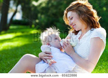 Outdoor Portrait Of Happy Family