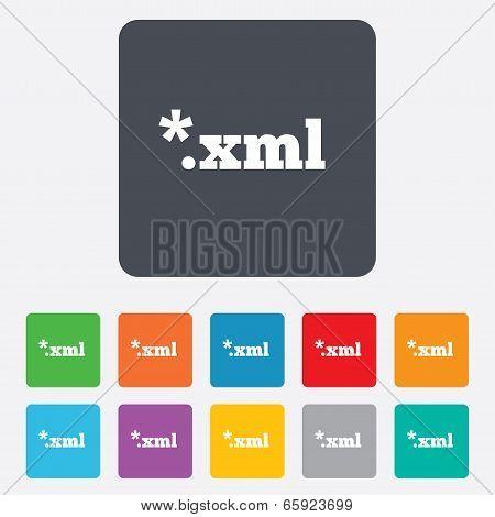 File document icon. Download XML button.