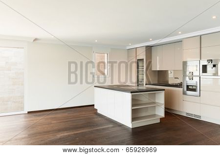 beautiful penthouse, view of modern kitchen