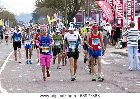 Many Colorful Runners Competing In Comrades Marathon