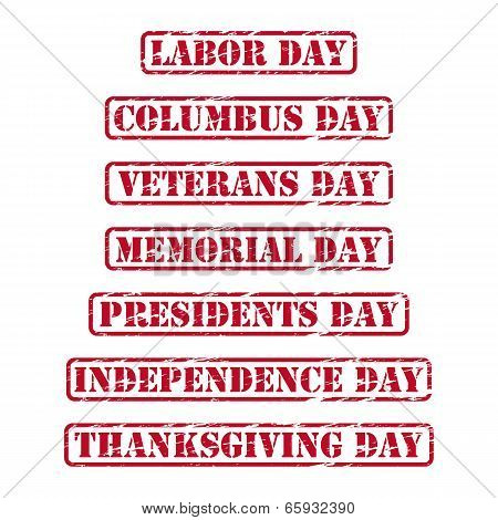 Usa Holidays Rubber Stamps