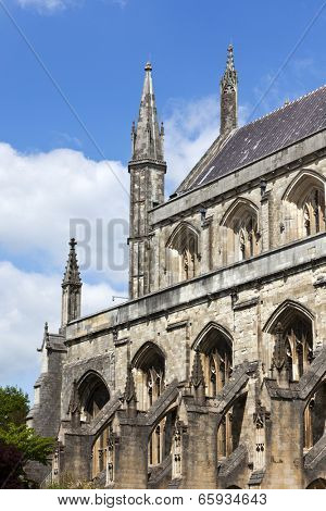 Winchester Cathedral, Hampshire, England. View from the south.
