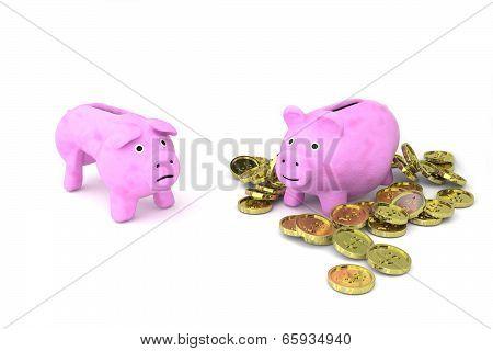 Skinny Vs. Fat Piggy Bank