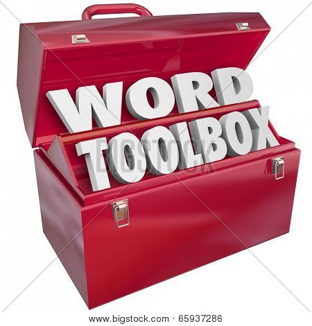 Word Toolbox 3d letters set of skills, projects and instructions learn spell, read understand vocabulary