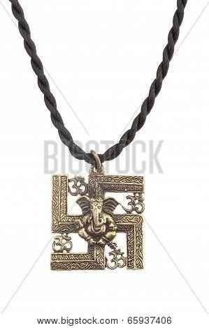 hindu god ganesh shape pendant