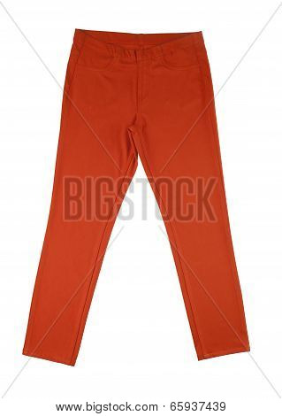 women orange pants