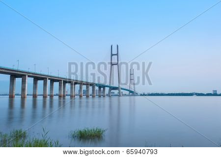Cable-stayed Bridge And Yangtze River