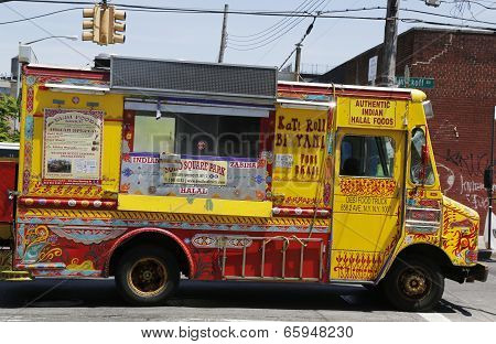 Famous Desi Food Truck at East Williamsburg in Brooklyn