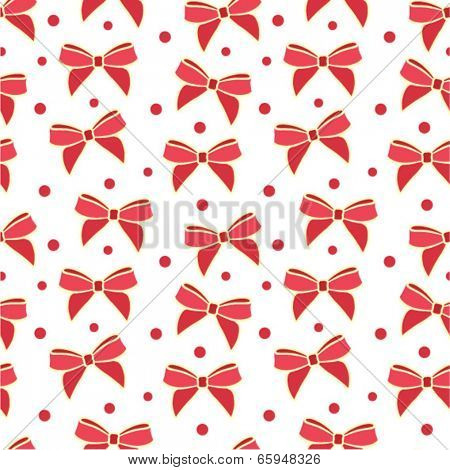 Bow seamless ornament