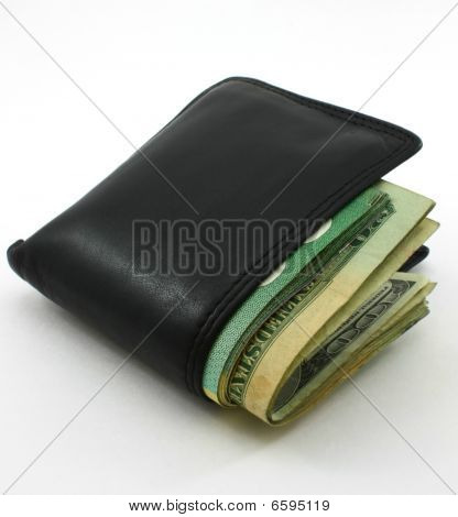 folder wallet loaded with dollar bills