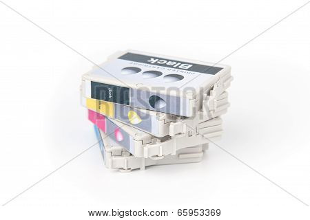 Cartridges for colour inkjet printer