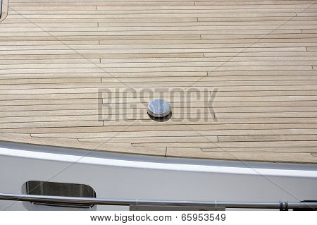 Wooden Decking To Motorboat
