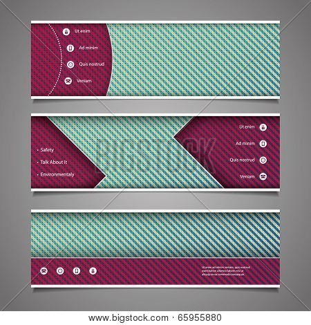 Website Design Elements - Header Design with Abstract Pattern