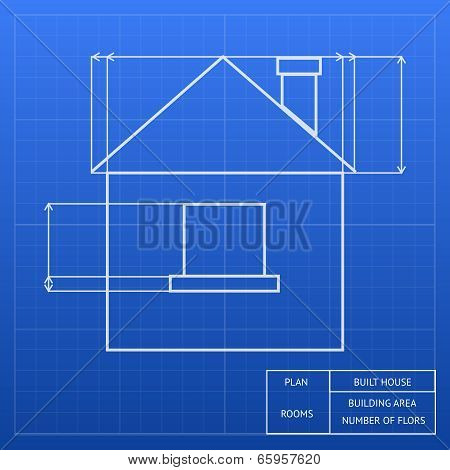 Blueprint of a house design