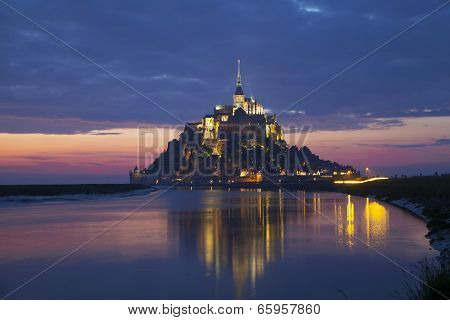 Evening Scene Of Mont Saint Michel