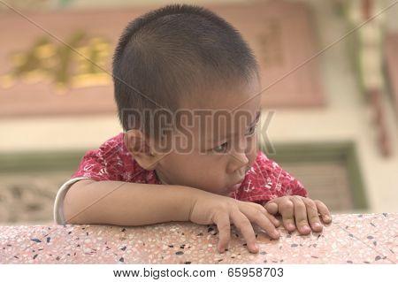 Toddler hiding