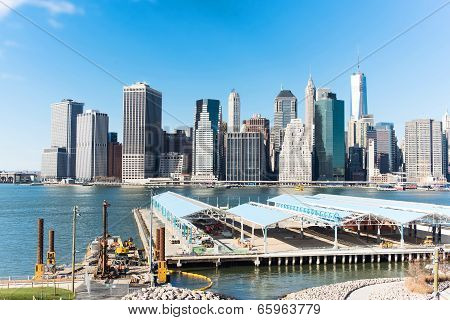 Cityscape Of New York On The Shore