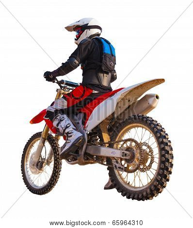 Racer On A Motorcycle, Isolated