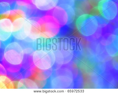 Colorful Light Blurs Background