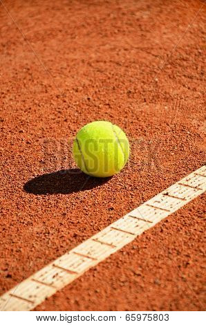 Tennis Ball Near Markup Diagonal Vertical