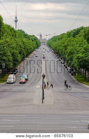 Wide Berlin Street Germany