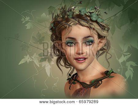 Vintage Girl, 3D Cg