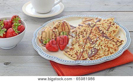 Pancakes and ice cream