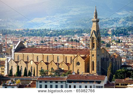 Florence Church Panoramic View, Firenze, Tuscany, Italy