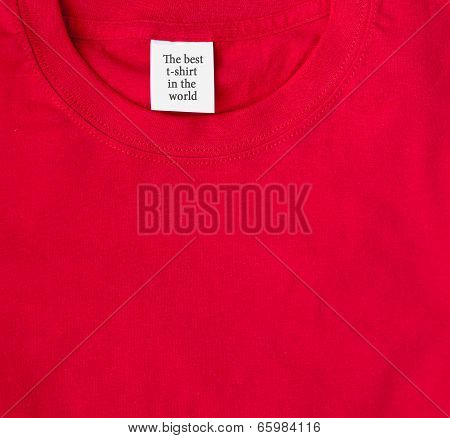 Closeup Red T-shirt