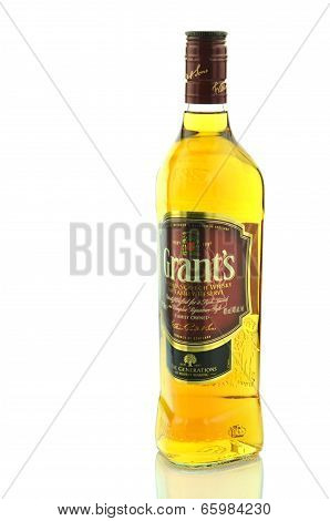 Grants blended whisky isolated on white background