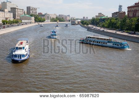 Ships On The Moskva River