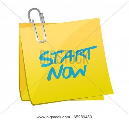Start Now Post Message Illustration Design