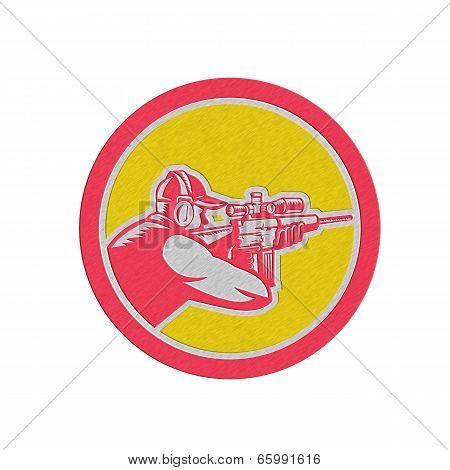 Metallic Shooter Aiming Telescope Rifle Circle Retro