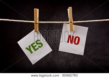 Yes And No Concept