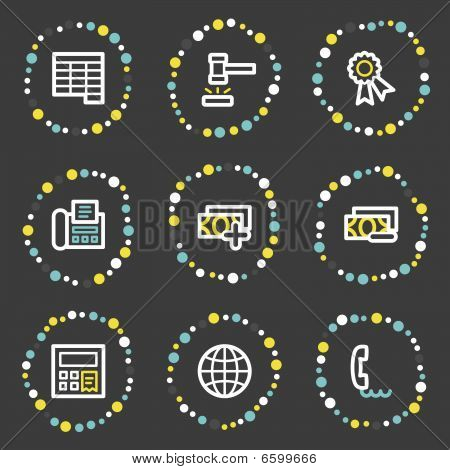 Finance web icons set , colour dots series