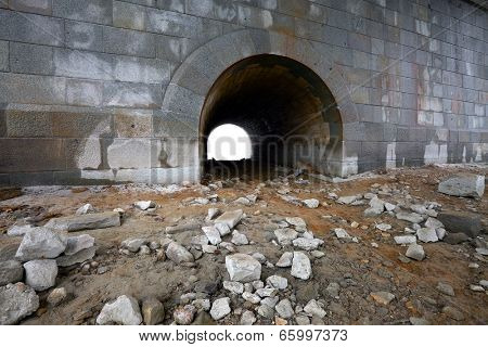 Stone wall with an archway