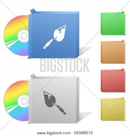 Trowel. Box with compact disc.
