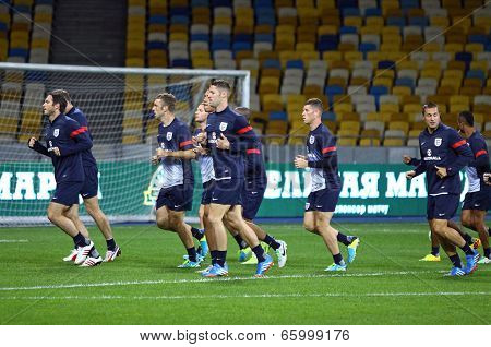 England National Football Team Training