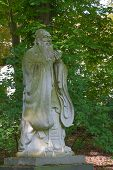 pic of thinker  - Sculpture Chinese thinker Confucius in the garden - JPG