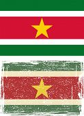 picture of suriname  - Suriname grunge flag - JPG