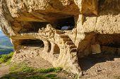 pic of crimea  - Caves at Tepe Kermen - JPG